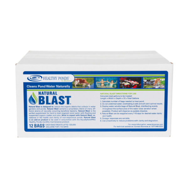Natural Blast™ 12 Count Box - one bag treats up to 125,000 gallons