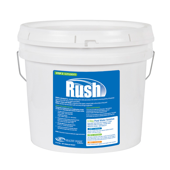 close-up of Rush pond treatment product