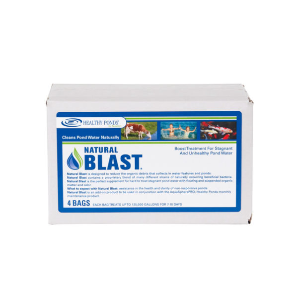 Natural Blast pond water treatment - blue