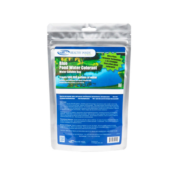 Healthy Ponds® Blue Pond Water Colorant 5 oz Water Soluble Bag - one bag treats up to 500,000 gallons (52010)