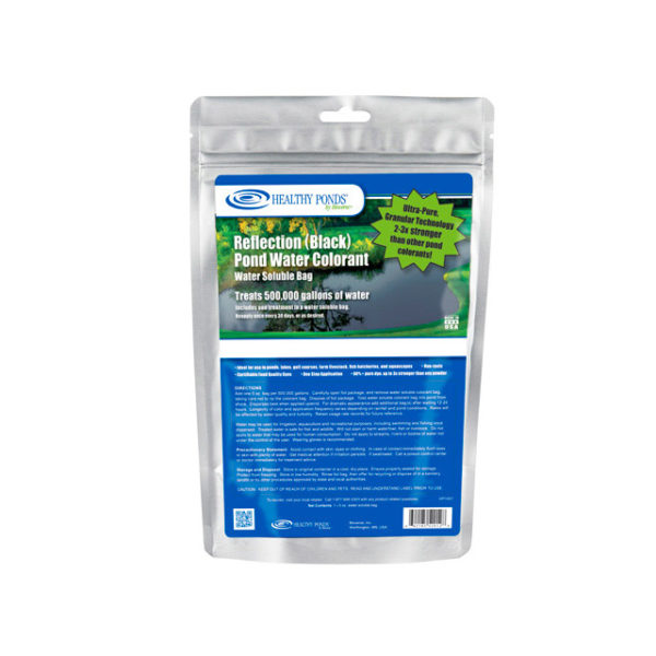 Healthy Ponds® Black Pond Water Colorant 5 oz Water Soluble Bag - one bag treats up to 500,000 gallons - 52012