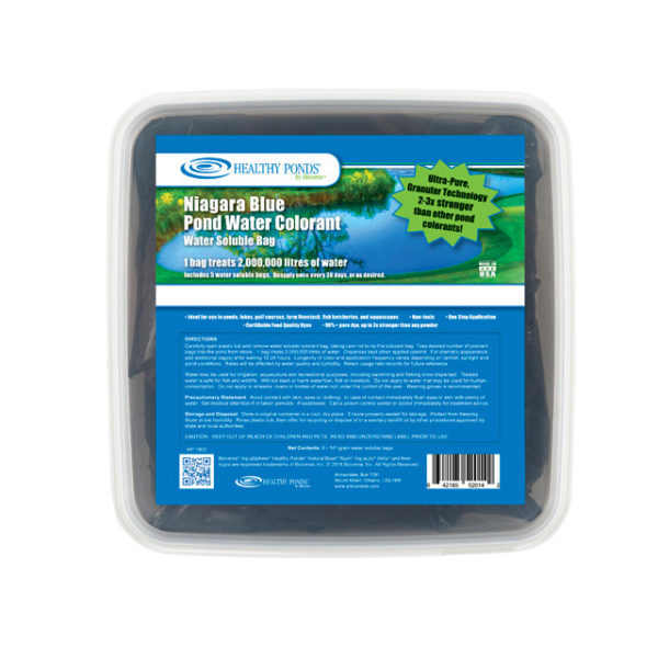 Healthy Ponds® Blue Pond Water Colorant 5 count Tub - one bag treats up to 500,000 gallons
