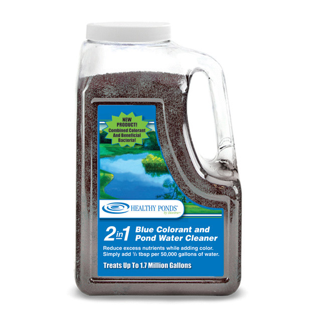 Healthy Ponds 2 In 1 Blue Colorant And Pond Water Cleaner