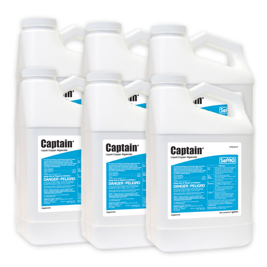 Six bottles of Captain